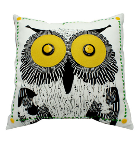 Owl cushion cover with an insert
