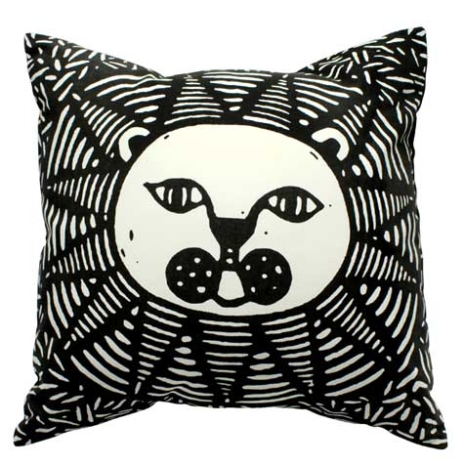 Lion cushion cover with an insert (1 color screen print)