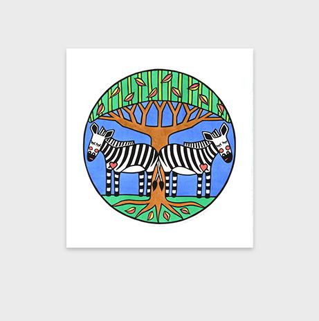 Naykii-Product-Zebra-siesta-greeting-card