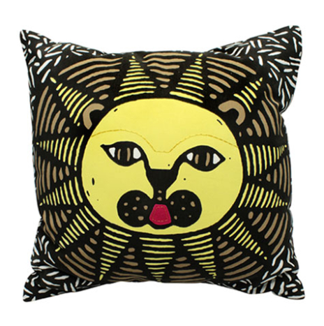 Lion cushion cover without an insert (3 color screen print)