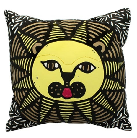 Lion cushion cover with an insert (3 color screen print)