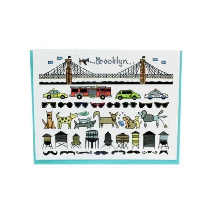 brooklyn-bridge-and-hipster-greeting-card